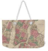New York City, Brooklyn, Jersey City, Hoboken Weekender Tote Bag