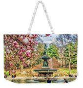 New York City Central Park Bethesda Fountain Blossoms Weekender Tote Bag