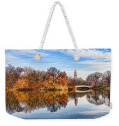 New York City Central Park Bow Bridge - Impressions Of Manhattan Weekender Tote Bag
