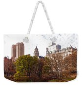 New York City Central Park Living - Impressions Of Manhattan Weekender Tote Bag