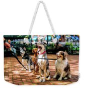 New York City Dog Walking Weekender Tote Bag