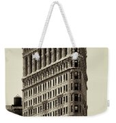 New York City - Flatiron In Sepia Weekender Tote Bag