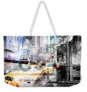 New York City Geometric Mix No. 9 Weekender Tote Bag by Melanie Viola