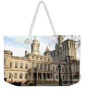 New York City Hall Weekender Tote Bag