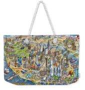 New York City Illustrated Map Weekender Tote Bag