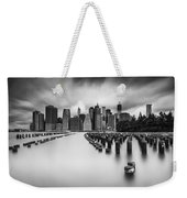 New York City In Black And White Weekender Tote Bag