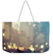 New York City Lights At Dusk Weekender Tote Bag