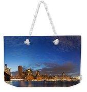 New York City Manhattan Skyline Panorama Weekender Tote Bag