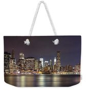 New York City - Manhattan Waterfront At Night Weekender Tote Bag