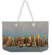 New York City Moonrise I Weekender Tote Bag