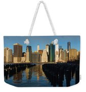 New York City Morning Reflections - Impressions Of Manhattan Weekender Tote Bag