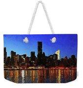 New York City Night Lights Weekender Tote Bag