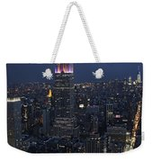 New York City Nights Weekender Tote Bag