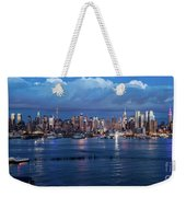 New York City Nyc At Dusk Weekender Tote Bag