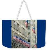 New York City Patriotism Weekender Tote Bag