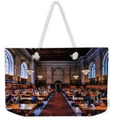New York City Public Library Rose Reading Room Weekender Tote Bag