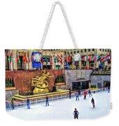 New York City Rockefeller Center Ice Rink Weekender Tote Bag