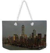 New York City Skyline Aerial - Lower Manhattan Weekender Tote Bag