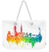 New York City Skyline Color Weekender Tote Bag