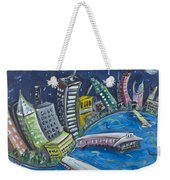 New York City Skyline Hoboken Weekender Tote Bag