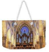 New York City St Patrick's Cathedral Organ Weekender Tote Bag