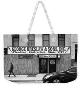 New York City Storefront Bw4 Weekender Tote Bag
