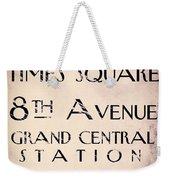 New York City Street Sign Weekender Tote Bag