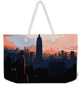 New York City Sunset Weekender Tote Bag