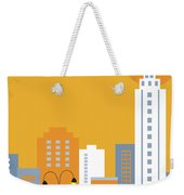 New York City Vertical Skyline - Empire State At Dawn Weekender Tote Bag