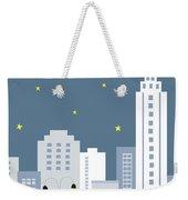 New York City Vertical Skyline - Empire State At Dusk Weekender Tote Bag