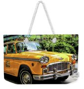 New York City Yellow Checker Taxicab Weekender Tote Bag