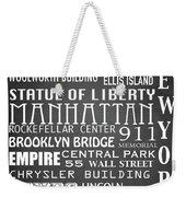 New York Famous Landmarks Weekender Tote Bag