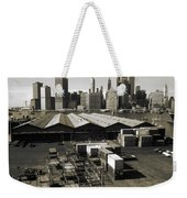 Old New York Harbor Skyline Weekender Tote Bag