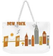 New York Horizontal Scene - Brooklyn Bridge Weekender Tote Bag