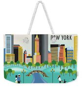 New York Horizontal Skyline - Central Park Weekender Tote Bag