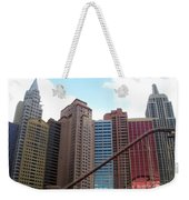 New York Hotel With Clouds Weekender Tote Bag