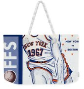 New York Knicks V Boston 1967 Playoff Program Weekender Tote Bag