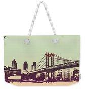 New York Manhattan Bridge Weekender Tote Bag