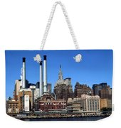 New York Mid Manhattan Skyline Weekender Tote Bag