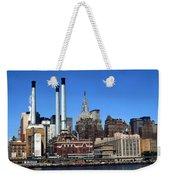 New York Mid Manhattan Skyline Weekender Tote Bag