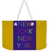 New York No 5  Weekender Tote Bag