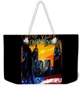 New York Night Skyline Weekender Tote Bag