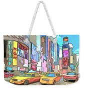 New York On A Sunday Weekender Tote Bag