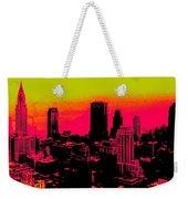 New York Pink Weekender Tote Bag