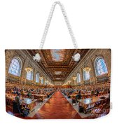 New York Public Library Main Reading Room I Weekender Tote Bag