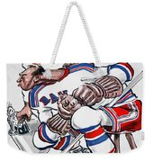 New York Rangers 1960 Program Weekender Tote Bag