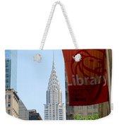 New York Scene Weekender Tote Bag