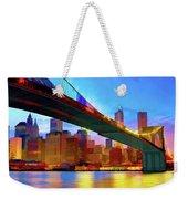New York Skyline 11 Weekender Tote Bag