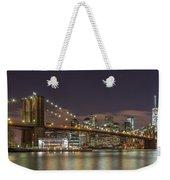 New York Skyline - Brooklyn Bridge - 6 Weekender Tote Bag