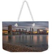 New York Skyline - Brooklyn Bridge - 9 Weekender Tote Bag